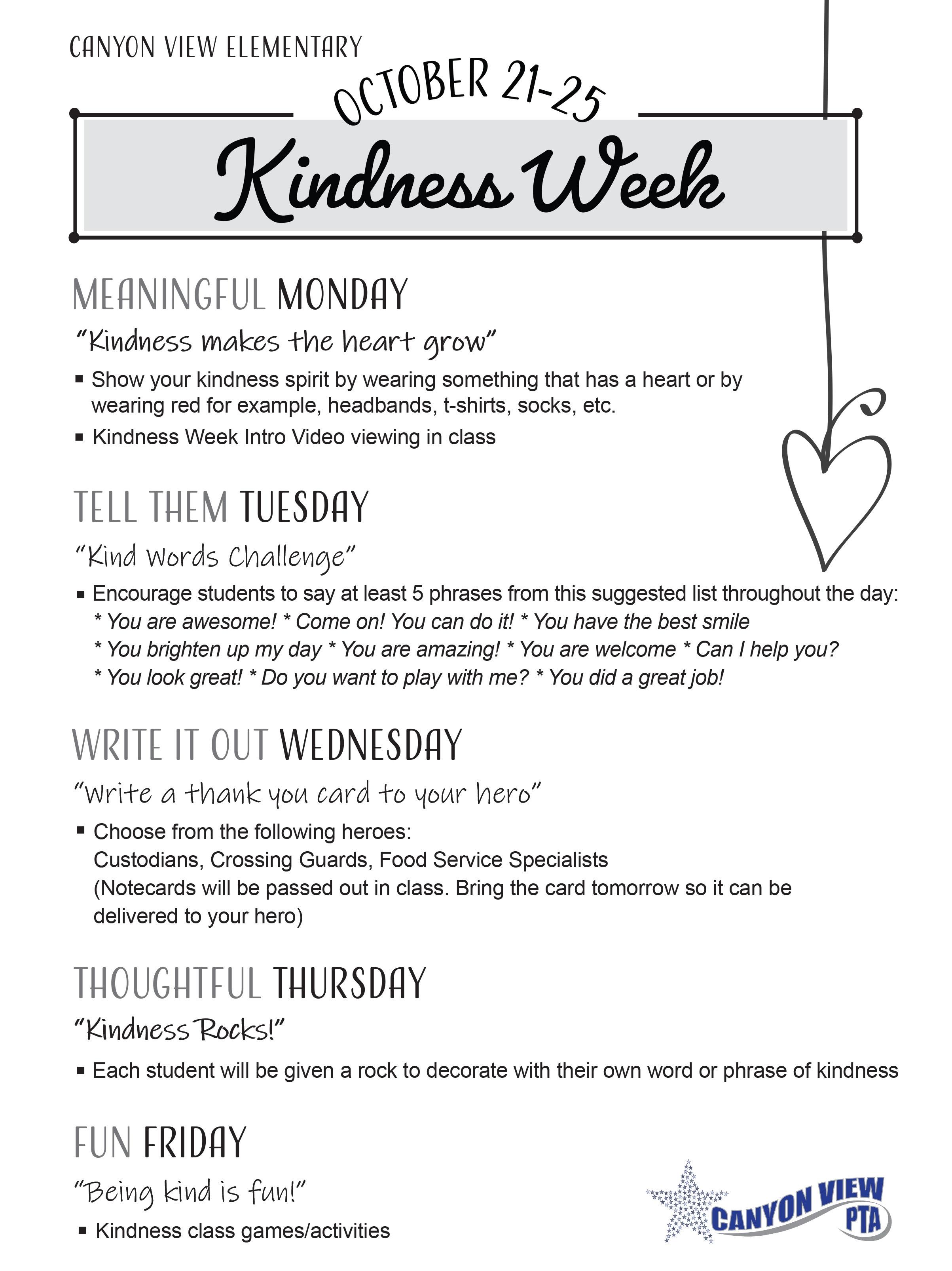 kindness flyer